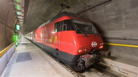 gotthard base tunnel quickens train travel  swiss