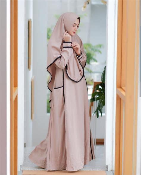 baju hijab murah creamy syari grosir baju muslim pakaian