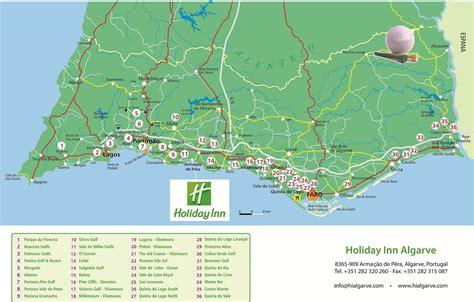 algarve map map   algarve holiday inn algarve