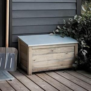 Outdoor, Storage, Box, Garden, Wood, Spruce, Weatherproof, Waterproof, Modern