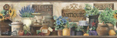 country wallpaper borders for kitchen sunflower wallpaper border kitchen gallery 8481