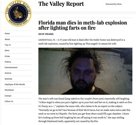 Florida Man Meme - florida man goes out with a bang meme collection