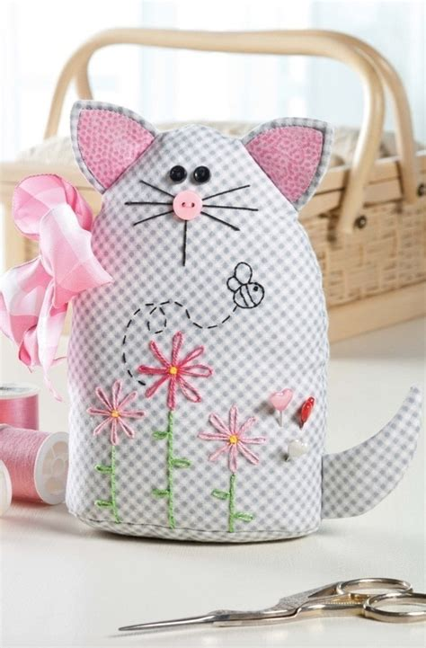 sweet kitty pincushion extract  easy  learn hand