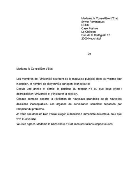 modèle lettre de démission contractuel fonction publique lettre de demission ecole application letter