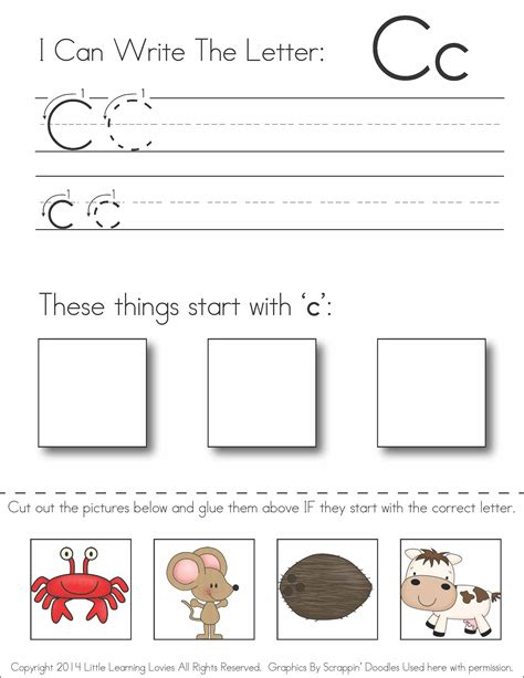 cut and paste paragraphs worksheets subscriber exclusive freebie letter c write cut