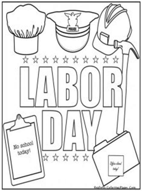 labor day coloring pages  kids preschool  kindergarten