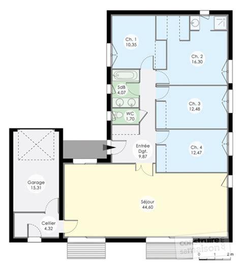 plan de maison 4 chambres plain pied gratuit plan de maison plain pied 4 chambres sans garage ventana