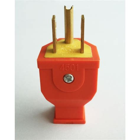 Project Source Amp Volt Orange Wire Grounding Plug