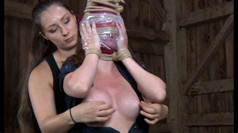 Buxom Mistress Squeezes Her Slaves Nipples And Pussy