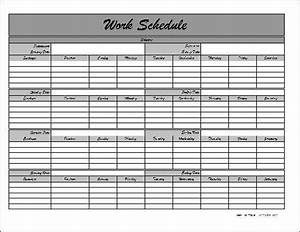 Monthly work schedule template creative vision calendar ...