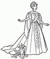 Coloring Anastasia Ball Gown Disney Colorear Drawing Colorare Dibujos Colouring Malvorlagen Colorir Desenhos Gowns Zum Ausdrucken Tegninger Imprimir Coloriage Disegni sketch template