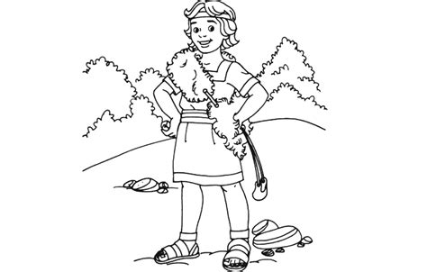 David The Shepherd Boy Coloring Pages - Costumepartyrun