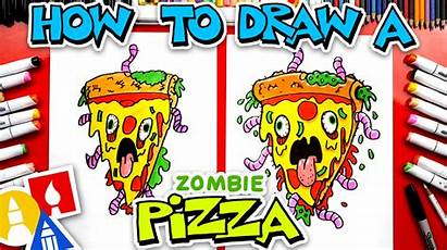 Pizza Draw Zombie Artforkidshub Hub Thumbnail