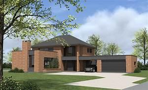 maison individuelle semi cubique en construction a With entree de jardin moderne 5 maison semi cubique en briques