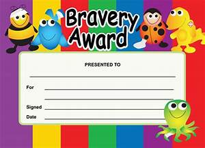 bravery award certificates With bravery certificate template