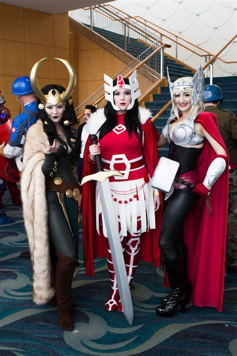 Cosplay Lady Loki Lady Sif And Lady Thor Are Holy