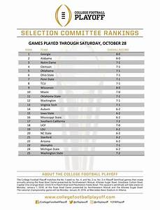 First 2017 College Football Playoff Rankings Released  Georgia Ranked  1