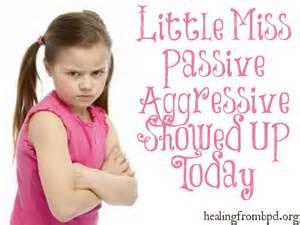 Passive-Aggressive Personality Disorder; Personality Disorder, Passive ... Borderline Personality Disorder