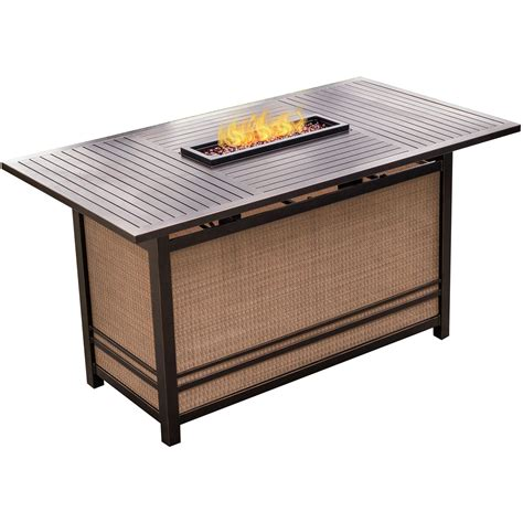 fire pit bar table hanover traditions 5 piece high dining set in blue with 4
