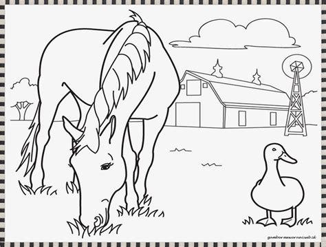 gambar mewarnai kuda poni  coloringpagesasia
