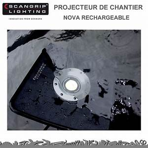 Projecteur De Chantier : projecteur de chantier nova rechageable scangrip lighting ~ Edinachiropracticcenter.com Idées de Décoration