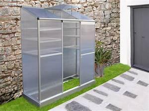 Serre En Polycarbonate Ou En Verre : mini serre de jardin ou balcon polycarbonate capucine 1 ~ Premium-room.com Idées de Décoration