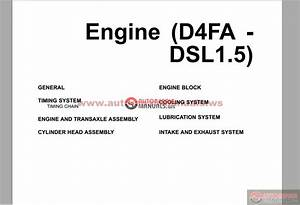 Hyundai Crdi Engine D4fa Technical Training