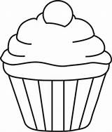 Cupcake Cake Cartoon Clipart Clipartbest Outline Template Birthday Clip Coloring Sheet Cookies Pattern sketch template