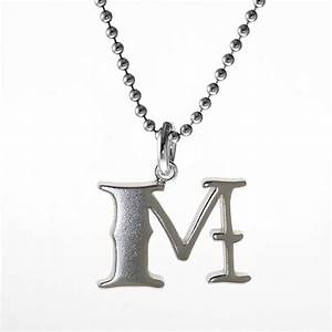 sterling silver letter pendant m pnut With sterling silver letter m pendant