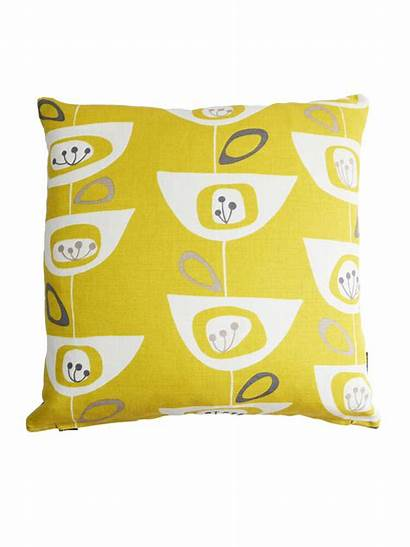 Cushion Retro Yellow Mustard Fabric Covers Scandinavian