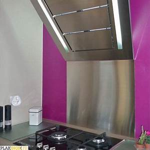Crédence Adhésive Cuisine : cr dence inox adh sive l60 x h70 cm x 1mm plakinox ~ Melissatoandfro.com Idées de Décoration