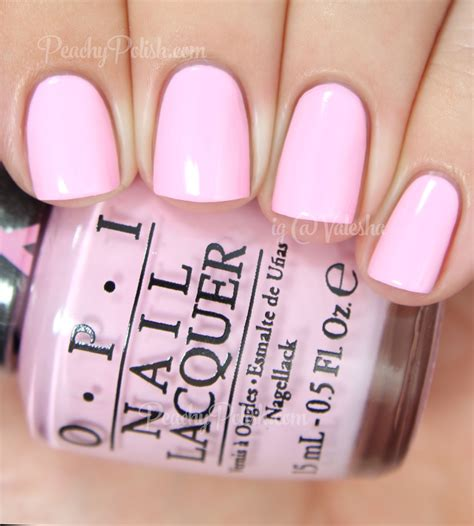 opi light pink opi 2014 pink of hearts duo swatches review peachy