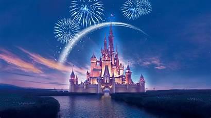 Disneyland Disney Wallpapers Castle Fireworks Widescreen Studio