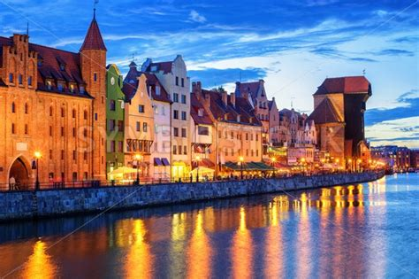 With a population of 470,907, gdańsk is the capital and largest city of the pomeranian voivodeship and the most prominent city in the vicinity of. Gothic facades facing Motlawa River in Gdansk, Poland - GlobePhotos - royalty free stock images
