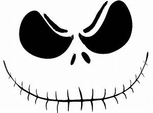 Jack skellington 2 pumpkin face free pumpkin carving for Jack skellington face template