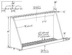 gun rack plans   build  gun rack misc pinterest guns   woodworking