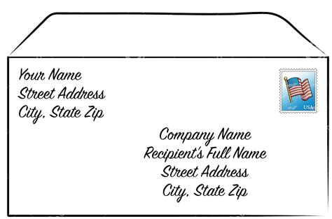 address  business envelope kind  letters sweep