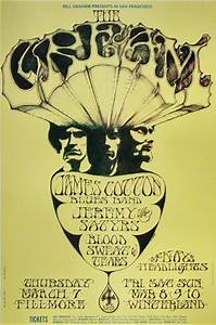 Cream Poster Fillmore Auditorium (San Francisco, CA) Mar 7 ...