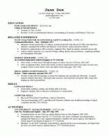 best resume for recent college graduate college resume 2 resume cv
