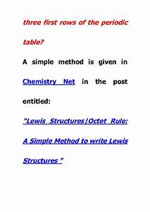 A Simple Method For Lewis Dot Structures