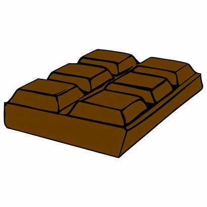 Chocolate Bar Clipart Brown Clip Cliparts Svg