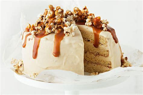 caramel popcorn ice cream cake recipes deliciouscomau