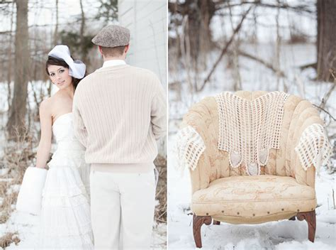 Wedding Ideas For Winter : Outdoor Whimsical Winter Wedding Inspiration