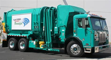 los angeles  receive   electric garbage trucks