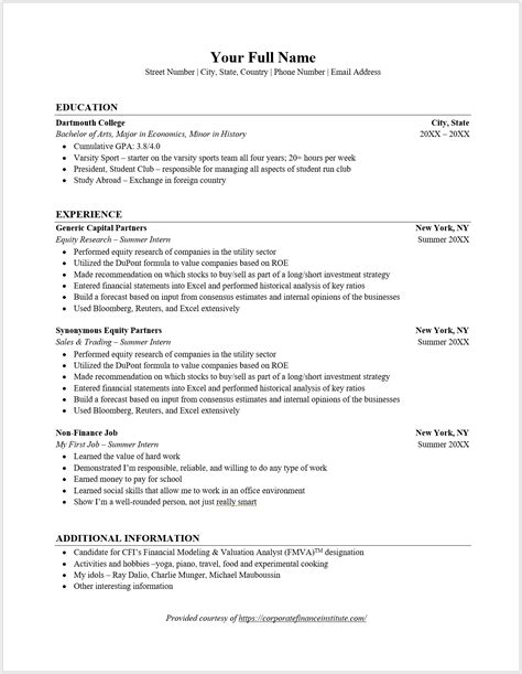 corporate banking resume template excellent investment banking resume template fresh banker