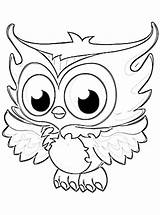 Coloring Pages Owl Owls Printable Colouring Getcoloringpages Cartoon Hard Patterns sketch template