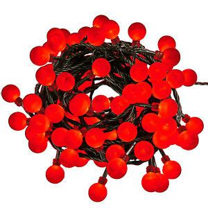 led christmas holly berry lights 80 berry tree led lights 13m mains in or outdoor decorations 5056161200129