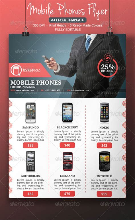 cell phone flyer template  blogankids graphicriver