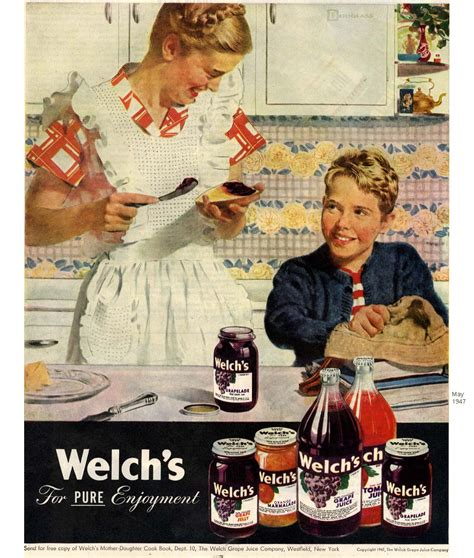 Douglass Crockwell, advertisements for Welch's