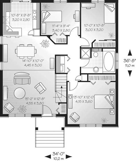 one floor plans modern house single floor plans modern single house